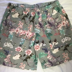 Ladies Floral Cotton Sateen Regular Leg Shorts 2/3 pages