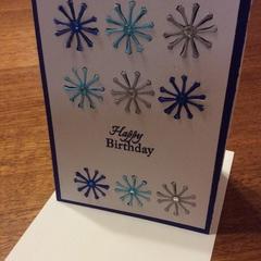 Feminine birthday card. Embellished