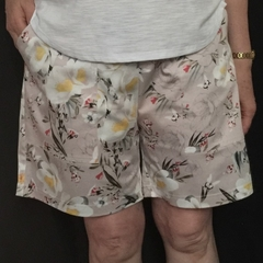 Ladies Floral Cotton Sateen Regular Leg Shorts 1/3 pages
