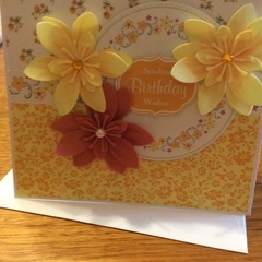 Birthday card. Feminine