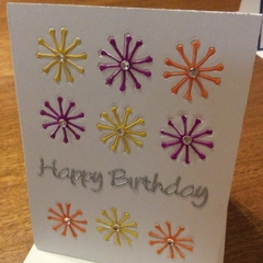 Birthday card. Embellished
