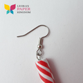 Red Barber Pole Earrings