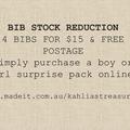 Girls Bib surprise pack