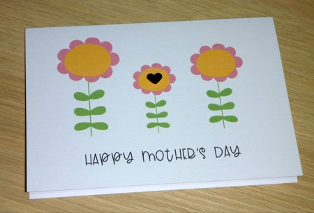 Mothers Day card- 3 flowers