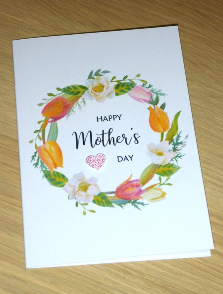 Mothers Day card- floral wreath