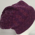 Unisex adult hand knit Italian Wool Slouchy-beanie Page 1/2