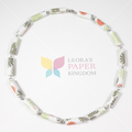 Spring Flowers Paper Bead Necklace