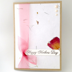Mother's Day Card - Pearls and Rose Petals
