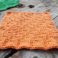 Square cotton/acrylic washcloth in orange  ON SALE!!!