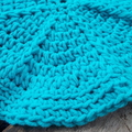 Round, cotton/acrylic washcloth in vibrant turquoise ON SALE!!!