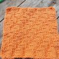 Square cotton/acrylic washcloth in orange  ON SALE!!!