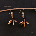 Real eucalyptus flower buds - copper plated