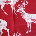 (SECONDS) 2 x Reversible Pot Holders - Deer on red & Denim