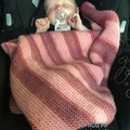 Baby's Hand Knitted Capsule Blanket 100% Australian Wool page 1/2