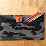 Green Camo Pencil Case
