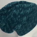 Unisex adult hand knit Italian Wool Slouchy-beanie 