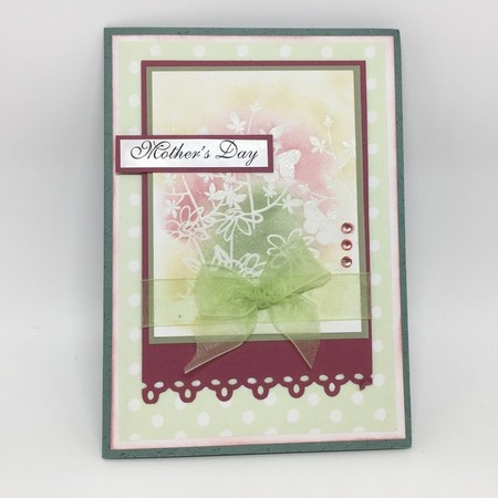 Mother's Day Card - Green and Crimson