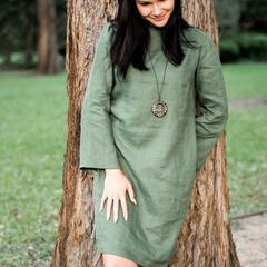 Women's Linen Shift Dress