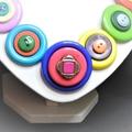 Button necklace - True Colours