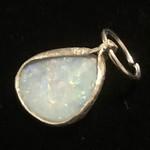 Australian Opal doublet set in fine silver