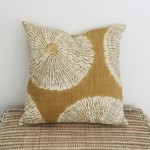 Amber and ivory shibori cushion. Made to fit a 50cm insert perfectly.