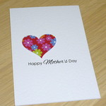 Mothers Day card- floral heart