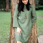 Women's Linen Shift Dress