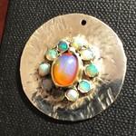 Australian and Walo opal pendant in sterling silver