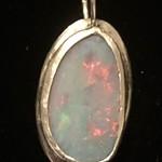 Australian Opal Doublet sterling silver pendant