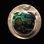 17.17ct Round Cabochon Azurite Malachite Crystal