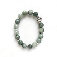 Aquatic Stone & Tibetan Bead Bracelet, Unique Gift, Vintage Style
