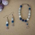 Aquamarine & Agate Gemstone Bracelet