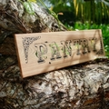 Pantry Vintage Farmhouse Style  Reclaimed Timber Sign