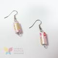 Pinwheel Paper Bead Earrings