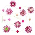 Custom listing for 'Megan' - Flower Felt Ball Hanging Garland - Pink