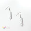 White Pinwheel Paper Bead Earrings