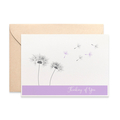 Thinking of You Card, Dandelions in the Wind Sympathy Card, WDS015