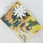 Mother's Day Card - Daisy Print, Daisy Lace