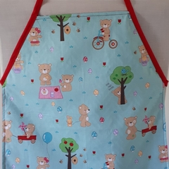 TEDDY BEAR PICNIC - Reversible Child's Apron