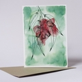 Australian Natives Blank Greeting Card - Gum Nuts - Eucalyptus Range