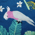 Small Coin Purse in Cockatoo Fabric