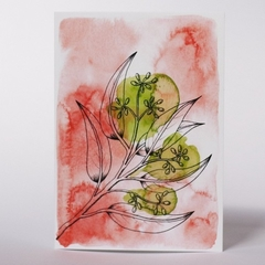 Australian Natives Blank Greeting Card - Seeded Gum - Eucalyptus Range