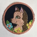 Childs Unisex denim animal patches  1/2 pages