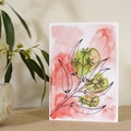 Australian Natives Blank Greeting Card - Seeded Gum - Eucalyptus Range
