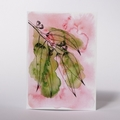 Australian Natives Blank Greeting Card - Gum Leaves - Eucalyptus Range