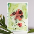 Australian Natives Blank Greeting Card - Gum Blossoms - Eucalyptus Range