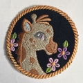 Childs Unisex denim animal patches  2/2 pages
