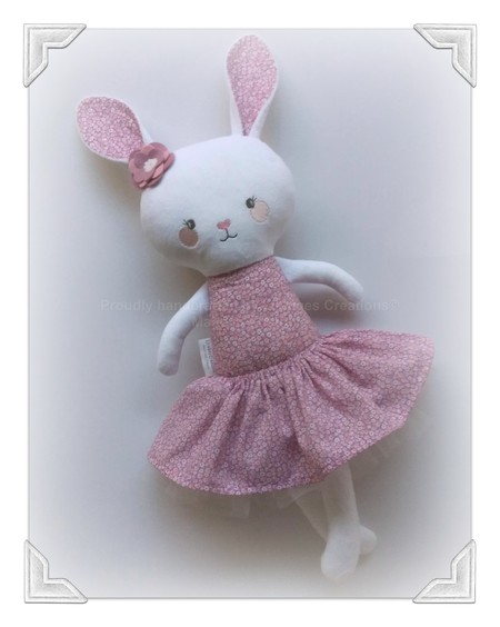 Handmade bunny rag doll, plush bunny, Easter gift, Dolls and Daydreams