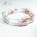 Pinwheel Paper Bead Bracelet