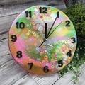 Tick Tock - Unicorn Glitter Buttons Clock -  Resin Buttons Clock - silent motion